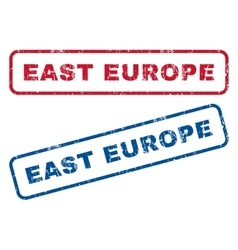 East europe rubber stamps vector
