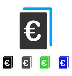 Euro document flat icon vector