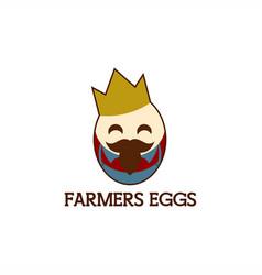 farmers egg king mascot vector image