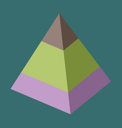 Flat icon on stylish background economic pyramid vector