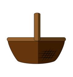 food basket empty vector image