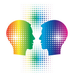 gays couple head silhouettes vector image