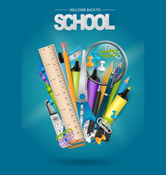 Get ready for school poster or flyer vector