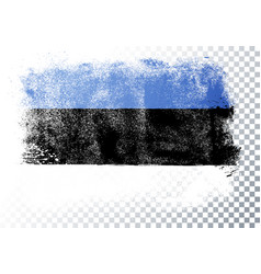 grunge and distressed flag estonia vector image