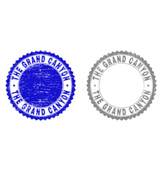 Grunge the grand canyon textured stamp seals vector