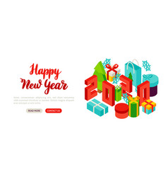 happy new year lettering banner vector image