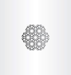 hexagon with triangles geometry icon vector image