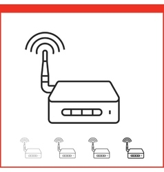 Icon of wireless access point vector