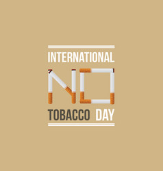 International no tobacco day banner style vector