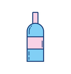Isolated alcohol bottle icon design vector
