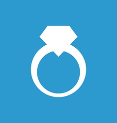 jewelery ring icon white on the blue background vector image