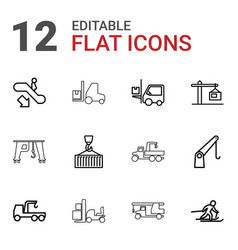 lift icons vector image