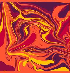 Liquid marble backgrounds in lava tones vector