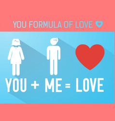 love formula concept vector image