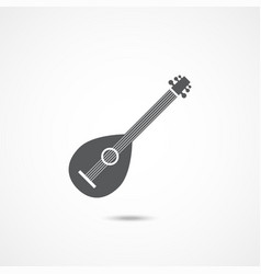 lute icon vector image