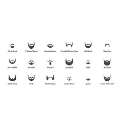 man beards and mustaches silhouettes vector image