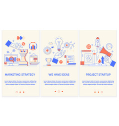 Marketing strategy we have idea easy to use vector