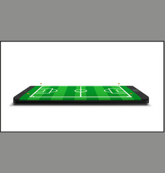 mobile football soccer mobile sport play match vector image