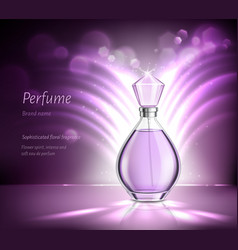 Perfume product advertising realistic composition vector