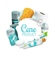 Personal hygiene beauty and health care products vector