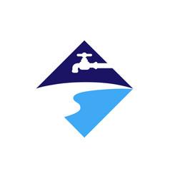 plumbing water logo icon design vector image