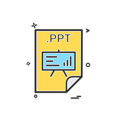 Ppt application download file files format icon vector