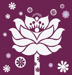 Purple blossom vector