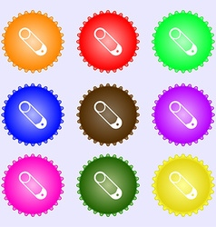 Pushpin icon sign Big set of colorful diverse vector image