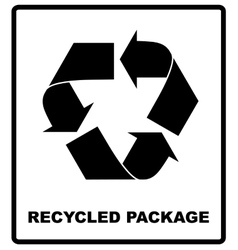 Recycled package symbol or sign of conservation vector