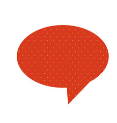 Red chat oval bubble icon vector
