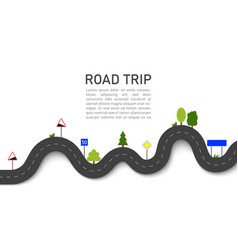 road trip icon for map journey highway vector image