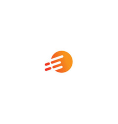 round line speed technology logo vector image