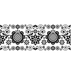 scandinavian folk art retro long pattern vector image