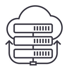 servers networkcloud line icon sign vector image