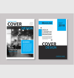 set of blue cover and layout brochure flyer vector image