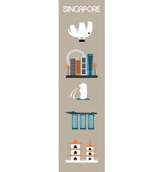 Singapore symbols vector image vector image