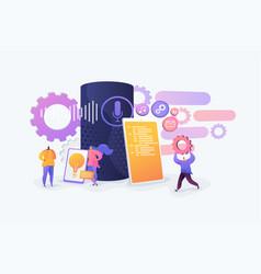 Smart speaker apps development concept vector