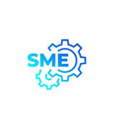 Sme small and medium enterprise icon vector