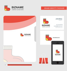 socks business logo file cover visiting card and vector image