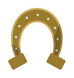 St patricks day horseshoe symbol vector