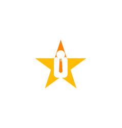 star job logo design element vector image