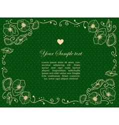 Stylish Vintage Invitation card vector image