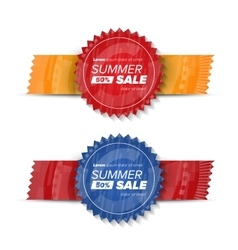 Summer sale circle stickers vector image