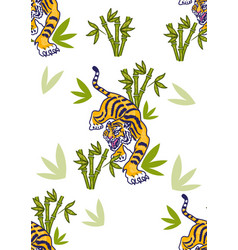 tiger set pattern vector image