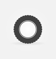 tire simple icon car tyre sign vector image