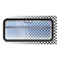 Train window isolated on a transparent background vector