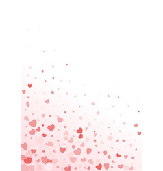 valentine day border design template vector image