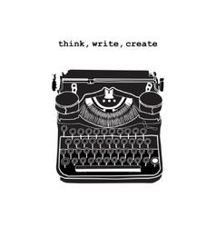 Vintage of retro typewriter vector