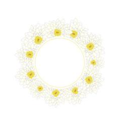 white chrysanthemum banner wreath vector image