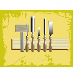 woodcarving tools vector image